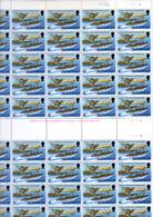 1978  ISLE Of Man,  60° Royal Air Force, 109 X   115 / 118**, Feuille De 50 Et Bloc, Faciale 40,33 £, - Man (Ile De)
