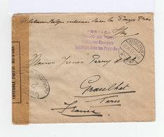 Sur Enveloppe Franc De Port Militaires étrangers  Potvrij CAD Harderwijk 1917. Ouverte Par L'Autorité Militaire.(930) - Marcophilie