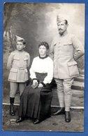Carte Photo -- Soldat Français --  Du 265 Eme  Avec Femme Et Enfant  1916 - War 1914-18
