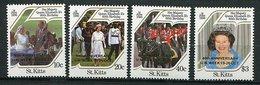 "St Kitts ** N° 609 à 612 ""surchargé Or 40 Th Ann. U.N. WEEK 19-26 Oct"" - St.Kitts-et-Nevis ( 1983-...)"