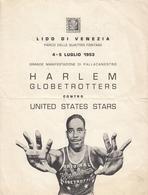 1953 HARLEM GLOBETROTTERS Vs US STARS LIDO DI VENEZIA ITALY BASKETBALL PROGRAM - Sports