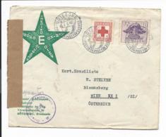 Schweden 316 MiF  Auf Esperanto-Bedarfsbrief Mit Sonderstempel Von Göteborg Nach Wien Mit Zensur - Suède