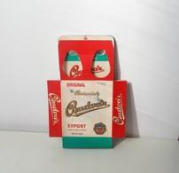 VINTAGE ORIGINAL BUDWEISER BUDWAR CARDBOARD BOX CZECHOSLOVAKIA EXPORT BEER - Beer