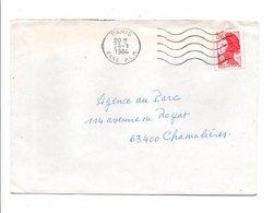 OBLITERATION MECANIQUE PARIS GARE PLM DU 29/1/1984 - Storia Postale