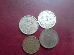 5 Cent.1921, 30 Cent.1958 Timor, 5esc.1972 Angola, 10esc. 1952 Guine - Portugal