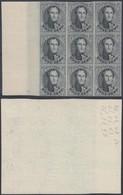 BELGIQUE 1929 20c Medaillon 20c Bloc De 9 Reimpression De La Planche En Noir (DD) DC-1009 - Proeven & Herdruk