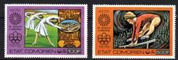 Comores P.A.  N° 108 / 09 X Jeux Olympiques D'été à Montréal, Les 2 Valeurs Trace De Charnière Sinon TB - Comores (1975-...)