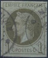 Colonies Générales Postes N° 7 1c Empire Vert-olive Oblitéré Martinique TB Qualité: Obl Cote: 90 € - Napoleon III