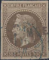 Colonies Générales Postes N° 9 30c Napoléon III Brun Oblitéré MQE TB Qualité: Obl Cote: 70 € - Napoleon III