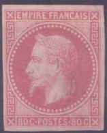 Colonies Générales Postes N° 10 80c Rose Napoléon III (léger Défaut) Qualité: * Cote: 1200 € - Napoleon III