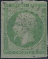 Colonies Générales Postes N° 8 5c Empire Vert-jaune Signé Miro Oblitéré MQE TB Qualité: Obl Cote: 500 € - Napoleon III