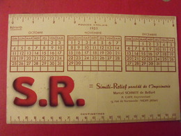 Buvard S.R. Simili Relief. Imprimerie Marcel Schmitt De Belfort. Cavy Vichy. Calendrier 1953 - Cartoleria