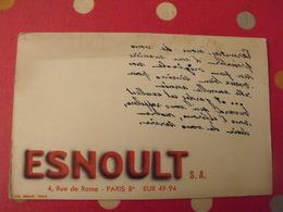 Buvard Esnoult? Paris. Message De Voeux à Lire Dans Un Miroir. - Buvards, Protège-cahiers Illustrés