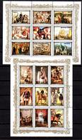 1984   Tableaux, Peintres Européens, Monarques, 1782 / 1790** Feuillet De 9 Valeurs, Cote 76,50 - Corée Du Nord