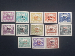 Czechoslovakia - 1920 - Mi:CS-SO 2A,7A,11A,13-15A,17-20A,22-24A *MH - Look Scan - Tschechoslowakei/CSSR
