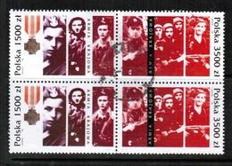POLAND   Scott # 3120-2 VF USED BLOCK Of 4 (Stamp Scan # 433) - Blocks & Sheetlets & Panes