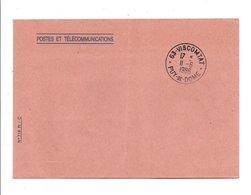 OBLITERATION SUR LETTRE DE SERVICE DE VISCOMTAT PUY DE DOME 1986 - 1961-....