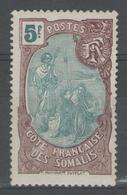 COTE DES SOMALIS:  N°82 *    - Cote 84€ - - Côte Française Des Somalis (1894-1967)