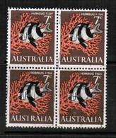 AUSTRALIA   Scott # 402 VF USED BLOCK Of 4 (Stamp Scan # 433) - Blocks & Sheetlets