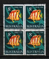 AUSTRALIA   Scott # 403 VF USED BLOCK Of 4 (Stamp Scan # 433) - Blocks & Sheetlets