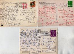 VP13.542 - Noblesse - Autographe X 3 Sur Carte Postale De Mr J. PLANTAJENET - Autographs