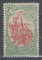 COTE DES SOMALIS:  N°51 *    - Cote 53€ - - Côte Française Des Somalis (1894-1967)