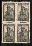 POLAND   Scott # 370 VF USED BLOCK Of 4 (Stamp Scan # 433) - Blocks & Sheetlets & Panes