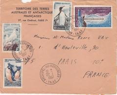 TAAF.  LETTRE DEVANT.  22 JANVIER 1967. ARCHIPEL DES KERGUELEN POUR PARIS  /   1227 - Terres Australes Et Antarctiques Françaises (TAAF)