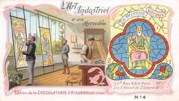 PIE-RO-18-7555 : EDITION CHOCOLAT D'AIGUEBELLE. ART INDUSTRIEL. LE VITRAIL. VITRAUX. VERRERIE. - Aiguebelle