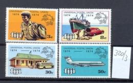 FIDSCHIINSELN -  320/3  UPU 100 J.  Kpl.postfr - Fidji (1970-...)
