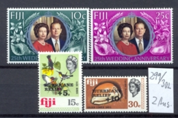 FIDSCHIINSELN -  299/300 + 301/2 = 2 Ausg.  Kpl.postfr - Fidji (1970-...)