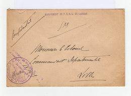 Sur Enveloppe F.M. Cachet Groupement De P.G.R.L. De Cambrai 1919. (934) - Marcophilie (Lettres)