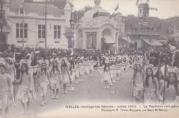 Ixelles Cortège Des Saisons Juillet 1910 Le Papillons Vert-pâle - Elsene - Ixelles