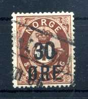 1905 NORVEGIA N.59 USATO - Norvegia