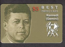 KENNEDY  AND ZODIAC GEMINI - 1 Card RARE! - Zodiaque