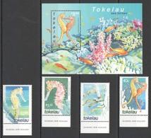 W404 2001 TOKELAU MARINE LIFE SEA HORSES 1SET+1BL MNH - Maritiem Leven