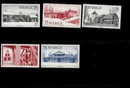 Europa Sympathieausgaben Denkmalschutzjahr Schweden 908 - 912 MNH Neuf ** Postfrisch - Gemeinschaftsausgaben