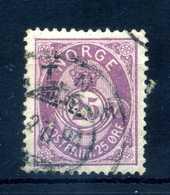 1882-93 NORVEGIA N.44 USATO - Norvegia