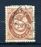 1882-93 NORVEGIA N.42 USATO - Norvegia