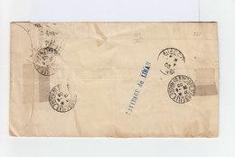Enveloppe Accidenté Cachet Naufrage Du Liban. Cachet Ajaccio 1903. Cachet Marseille. (937) - Marcophilie (Lettres)