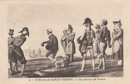 L OEUVRE DE CARLE VERNET TABLEAU LES JOUEURS DE BOULES - Cartes Postales
