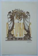 Ex-libris Illustré Belgique XXème - Sigle ABCDE (Association Belge Des Collectionneurs D'Ex-Libris) - Ex-libris