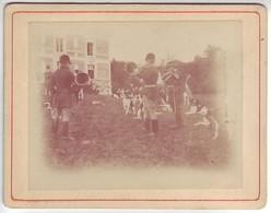 Chasse à Courre - Chiens - Photo Albuminée Collée Sur Carton Fort - Avant 1900 - 12,6 Cm X 9,7 Cm - Antiche (ante 1900)