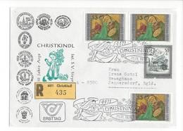 20988 -  Christkindl 1976 Lettre Recommandée Pour Jennersdorf 10 Jahre Arge Int. S. V. Steyr - Noël