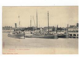Zelzate Selzaete. - Le Canal De Terneuzen 1907 Edit.Albert Sugg, à Gand  Série 37 N. 7 - Zelzate
