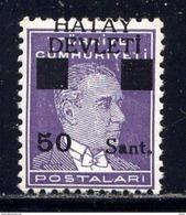 HATAY - N° 17C* - ATATÜRK - 1934-39 Sandjak Alexandrette & Hatay