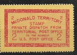 USA Mc Donald Teritory Private Dispatch Local Post - Sonstige