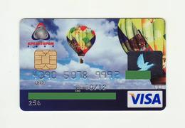 Kreditprombank Ukraine Ballon VISA Expired - Cartes De Crédit (expiration Min. 10 Ans)