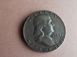 PIECE HALF DOLLAR FRANKLIN 1954 - Etats-Unis