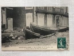 GRANDCAMP-les-BAINS - Ras De Marée Du 28 Octobre 1909 - Picoteux Jetés Sur Les Villas - France